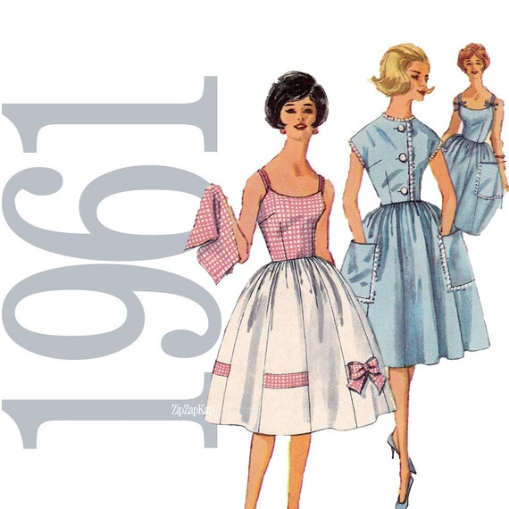 60s Mad Men Dress Vintage Pattern - B33 - Simplicity 3908 - Uncut