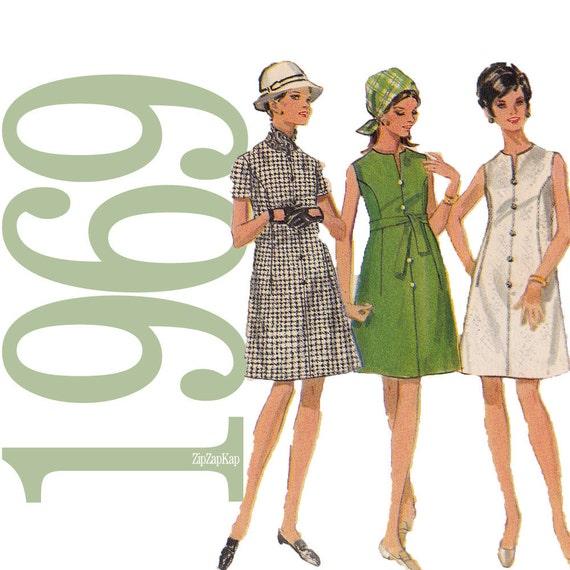 60s Dress Vintage Pattern - B34 - Butterick 5174