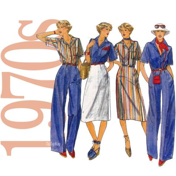 70s Separates Vintage Pattern - B38 - Butterick 5274 - Uncut, Factory Folds, NOS