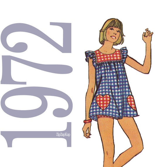1970s Shorts, Smock, Pants Vintage Sewing Pattern - B32 - Simplicity 5423