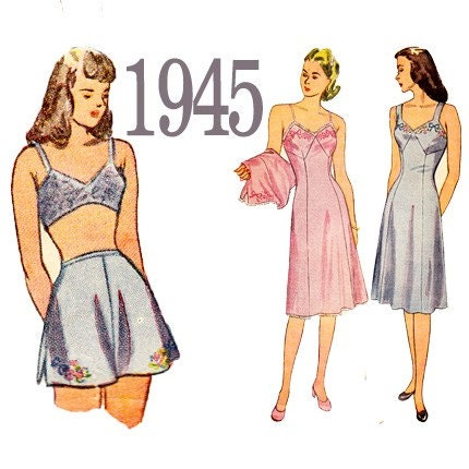 40s tap pants slip lingerie vintage sewing pattern by zipzapkap