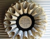 Thanksgiving Wreath, BOUNTIFULLY Book Page Wreath - Vintage Hymnal Song Book - MTO