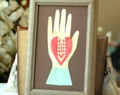 Heart in Hand Love Token - Early American Valentine - Engagement, Wedding, Anniversary