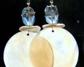 Large, dramatic dangle earrings