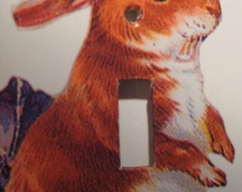 Vintage Bunny Rabbit Light Switch Cover