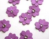 10 Handmade Paper Flowers in Purple