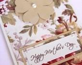 1 Handmade Card, Happy Mother's Day Card,  Wedding Card, Vintage Card, I Love You Card, Anniversary Card