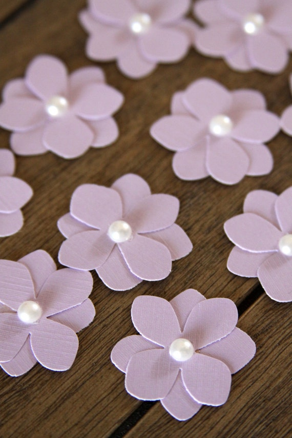 10 handmade paper flowers in light purple easter flowers