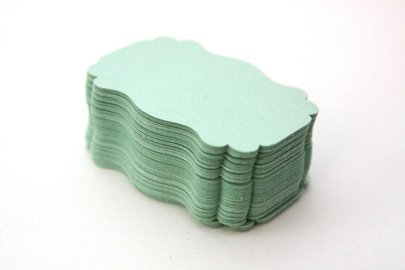 Reserved Listing for Rachel - 100 Handmade Paper Tags, Mint Tags