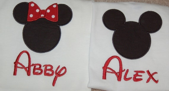 Reserved for klanasa Custom Mouse Head Applique embroidered shirts