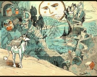 Unicorn Journey Art-Print 8.5x11