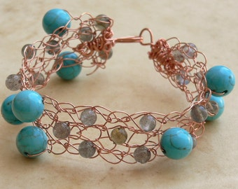 Labradorite Magnesite Bauble Bracelet