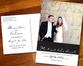 We Tied the Knot Photo Postcards - 100