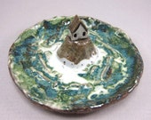 Big Blue...Keepsake Dish or Ring Holder in Stoneware