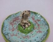 Lily On Birdwatch...Keepsake Dish or Ring Holder in Stoneware