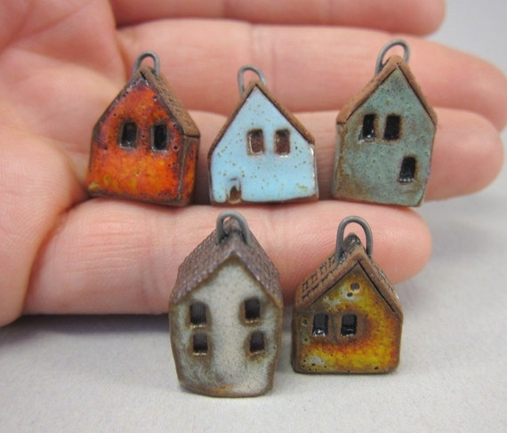 5 Miniature House Charms