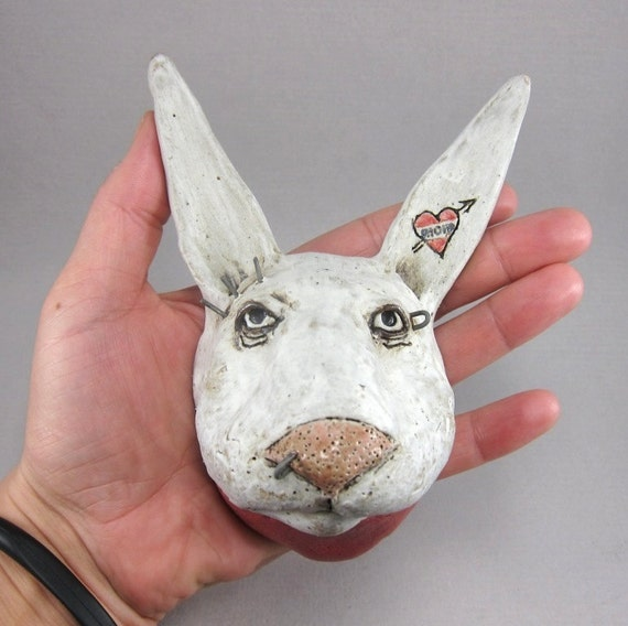 No Bunny ...Wall Bust in Stoneware