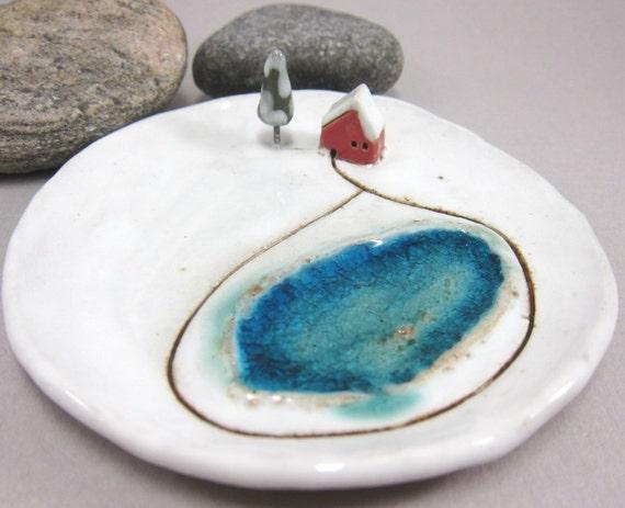 Private Lake...Keepsake Dish in Stoneware