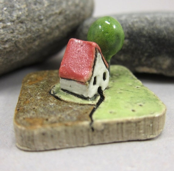 MyLand - Lemongrass Meadow - Collectible 1.2x1.2 inch (3x3 cm) piece of land in stoneware
