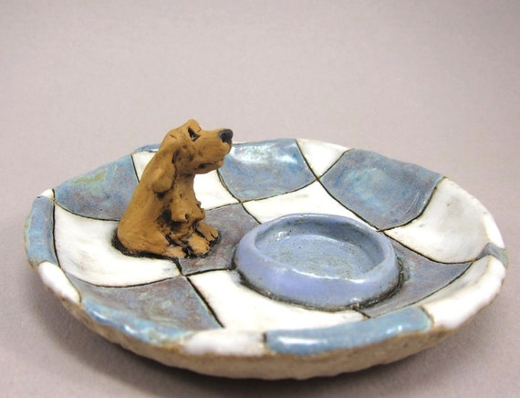 RESERVED for ew2176 RESERVED 2 Minutes Until Dinner...Keepsake Dish or Ring Holder in Stoneware