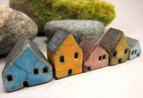 Candy Lane...Rustic Miniature Houses for Moss Tearriums or Pot Gardens