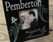 MEDIUM - Personalized Wedding Name Frame - Whimsical Flower