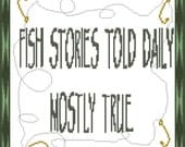 Fish Stories Cross Stitch PDF Pattern