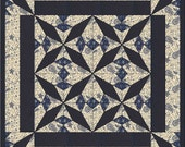 Fans and Lace Table Topper Quilt PDF Pattern by MadCreekDesigns