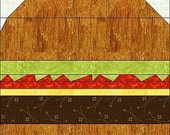 Cheeseburger and Fries Foundation Paper Piece Quilt-PDF Pattern by MadCreekDesigns