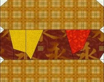 Hotdog Paper Piece Quilt Block-PDF Pattern by MadCreekDesigns