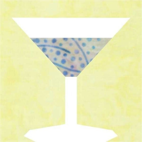 Martini Paper Piece Block PDF Pattern by MadCreekDesigns