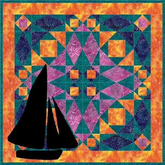 Lost At Sea Quilt PDF Pattern by MadCreekDesigns
