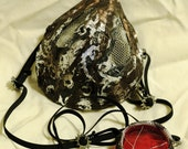 Post Apocalyptic Steampunk Goth Industrial Mesh Bio Mask and Monocle