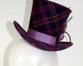 Mad Hatter-Style Mini Top Hat with Feathers