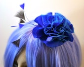 Silk Dupioni Fascinator with Feathers