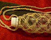 RESERVED for Brisil---Travel Water Bottle Holder with Yellow and Peach Beads