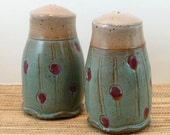 Crimson Clover Stoneware Salt and Pepper Shakers