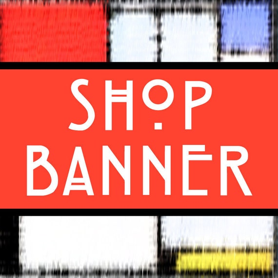 Custom Etsy Banner, Etsy Shop Banner, Personalize Banner, New Etsy Design Banner, Store Graphics, Shop Supplies, Craft Supplies