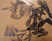 Vintaj Destash engraved oval toggle bar engraved creative bar  Full Primrose Stencil
