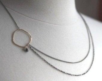 Asymmetrical Diamond Necklace