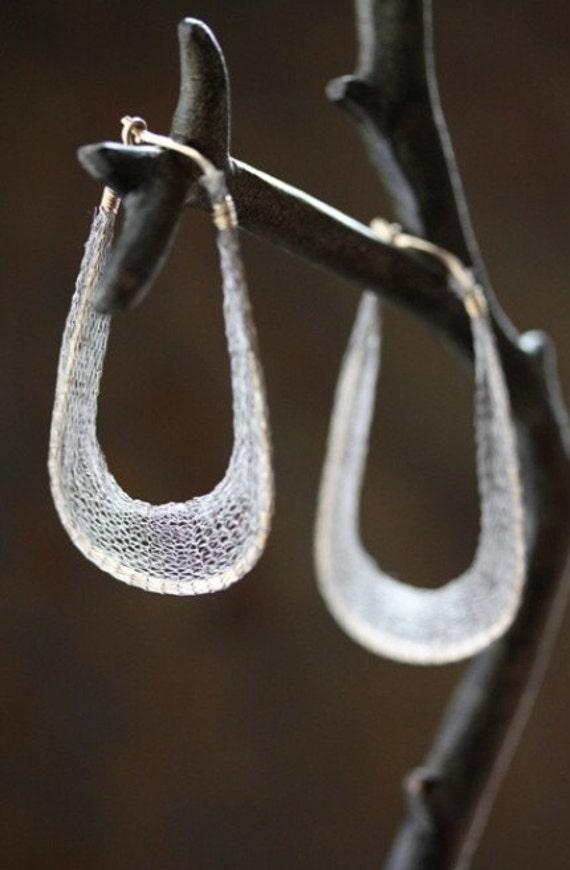 Mesh n Metal Earrings
