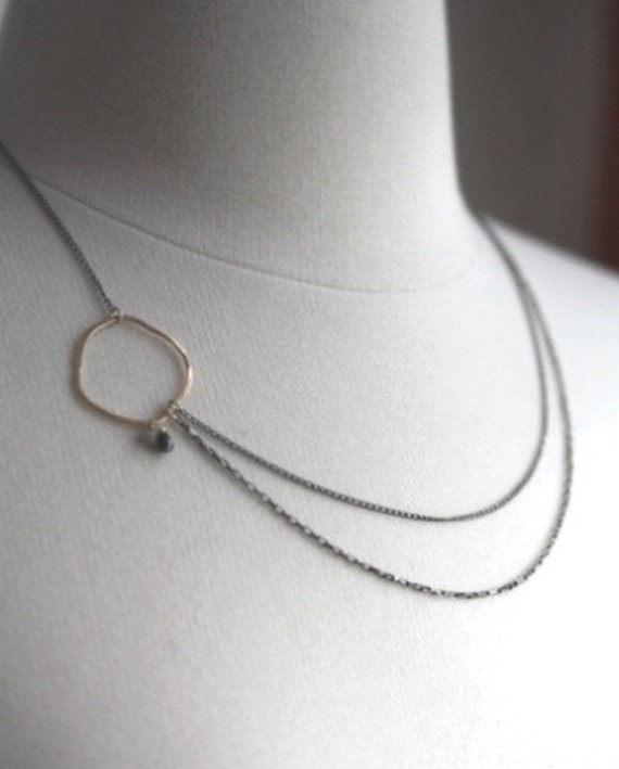Asymmetrical Diamond Necklace