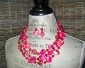 NE10 Pink Floating Shell Necklace