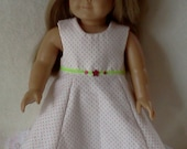 American Girl Doll Clothes -- Pink and White Easter or Spring Dress