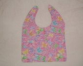 Clothing Protector Bib -- Sparkling Pastel Butterflies-- For Elderly, Special Needs, Art Smock, Apron...