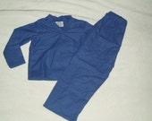 Boys Clothes size 4/5 -- 2 Piece Soft Flannel Royal Blue Pajamas