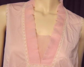 Vintage Pale Pink Vanity Fair Nylon Nightgown