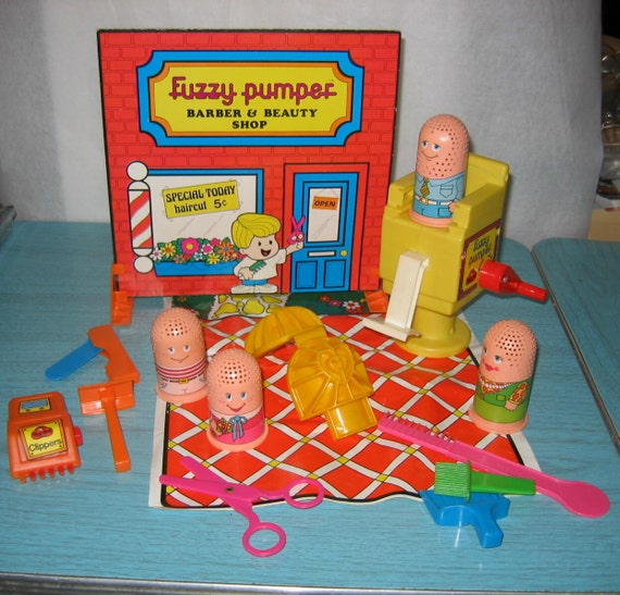 Vintage Play Doh Fuzzy Pumper Barber Amp Beauty Shop Modeling