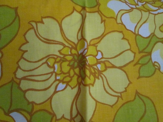 NOS Vintage Lemon Yellow Floral Pillowcases