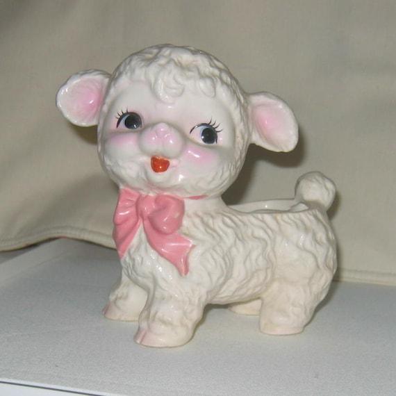 Super Sweet Vintage Kitschy Lamb Planter